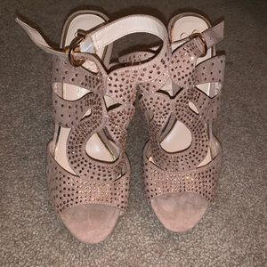 Nude Sparkly Heels